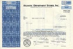 Atlantic Department Stores, Inc. - New York 1971