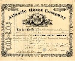 Atlantic Hotel Company - Ocean City, Maryland 1868