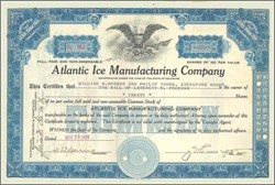 Atlantic Ice Manufacturing Company 1928