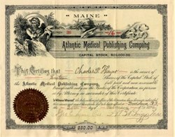 Atlantic Medical Publishing Company - Maine 1896
