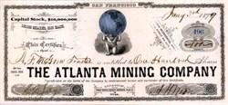Atlanta Mining Company of San Francisco - California 1879