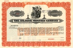 "Atlantic Monthly Company ( Famous ""The Atlantic"" Magazine ) - Massachusetts"