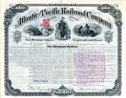 Atlantic & Pacific Railroad Company (Western Division) - 1880