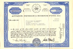 Atomics, Physics & Science Fund, Inc. - Delaware 1964