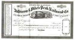 Atchison & Pike's Peak Railroad Company - Central Branch Union Pacific 1860's