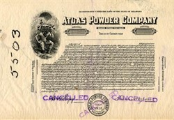 Atlas Powder Company (Rare Specimen Proof) - Delaware 1925