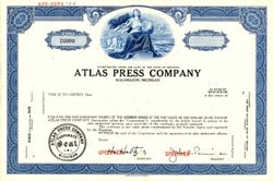 Atlas Press Company - Kalamazoo, Michigan 1966