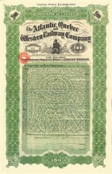 Atlantic, Quebec, and Western Railway Company 1910