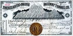 Atlantic-Pacific Railway Tunnel Company - Colorado 1885