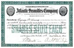 Atlantic Securities Company - New York 1905