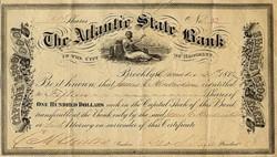 Atlantic State Bank - Brooklyn, New York 1872