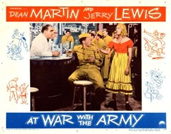 At War with the Army Lobby Card Starring Dean Martin and Jerry Lewis - 1951