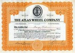 Atlas Wheel Company - 1920 - Vignette of early car wheel with spokes