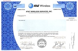 AT&T Wireless Services, Inc. (Rare Specimen Stock) - Formally McCaw Cellular