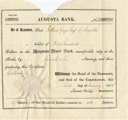 Augusta Bank 1825 - Maine