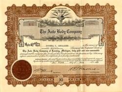 Auto Body Company - Lansing, Michigan - 1916