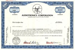 Audiotronics Corporation - California 1967