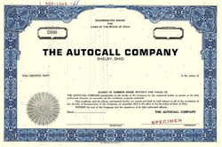 Autocall Company  (Fire Alarm Systems) - Shelby, Ohio 1968