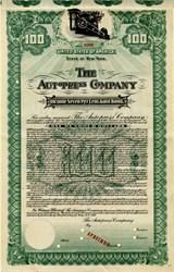 Autopress Company Specimen Gold Bond - 1911