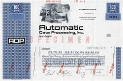 Automatic Data Processing, Inc. (ADP) - Delaware 1970
