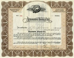 Automotive Finance Company (Early Auto Finance ) - Delaware 1923