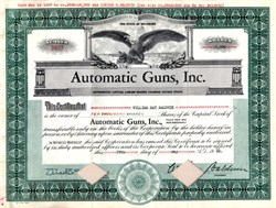 Automatic Guns, Inc. - Delaware 1935