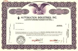 Automation Industries, Inc. - California