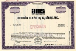 Automatic Marketing Systems,Inc. (AMS) - Delaware