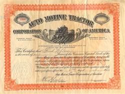 Auto Motive Tractor Corporation of America - New York 1920