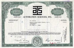 Automation Sciences, Inc.- New York 1971