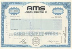 Automated Microsystems, Inc.  (AMS ) 1980's