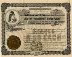 Auto Transit Company - Wyalusing, Pennsylvania 1909