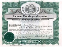 Automatic Tire Machine Corporation 1920