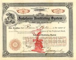 Autoforce Ventilating System - South Dakota 1908