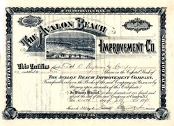Avalon Beach Improvement Company - Camden, New Jersey 1893