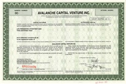 Avalanche Capital Venture Inc., Canada