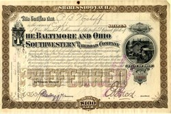 Baltimore and Ohio Southwestern Railroad Company - New York 1891