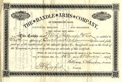 Bandle Arms Company - Cincinnati, Ohio 1892