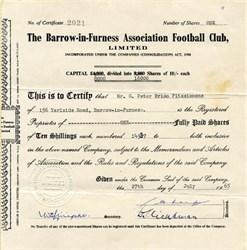 Barrow-in-Furness Association Football Club, Limited - England 1965