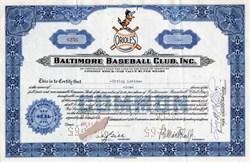 Baltimore Baseball Club, Inc. (Baltimore Orioles)  - Missouri 1965