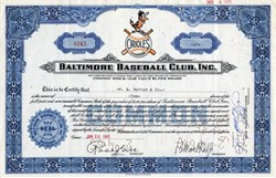 Baltimore (Orioles) Baseball Club, Inc. - Missouri 1965