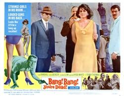Bang! Bang! You're Dead! Lobby Card Starring Tony Randall and Senta Berger - 1966