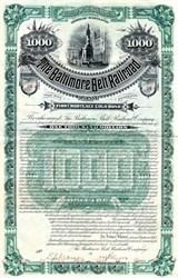 Baltimore Belt Railroad Company - Maryland 1890