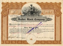 Barker Block Company ( Early L.A. Real Estate Developer - Philip D. Rowan ) - Los Angeles, California 1911