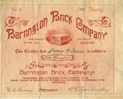 Barrington Brick Company - Connecticut 1888