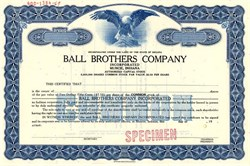 Ball Brothers Company (Famous Glass Container Company)  - Muncie, Indiana 1969