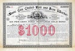 Basic City Chilled Roll and Iron Works - Basic City / Waynesboro, Virginia 1895