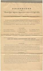 Basic City Mining, Manufacturing Land Company Prospectus - Waynesboro, Virginia 1890