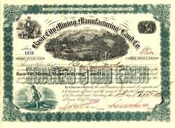Basic City Mining Manufacturing Land Co. - Basic City / Waynesboro,  Virginia 1890