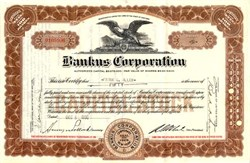 Bankus Corporation - New York 1930